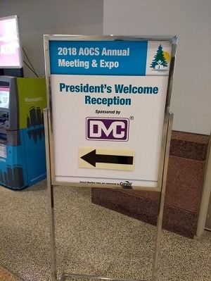 DVC sponsors the President's Welcome Reception at AOCS 2018, Minneapolis